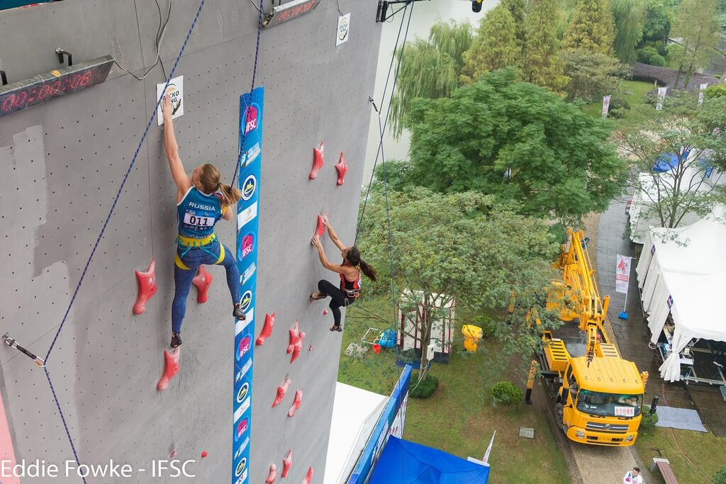1B Slight succeded in the IFSC Climbing WorldCup in Xiamen (CHN) 2016